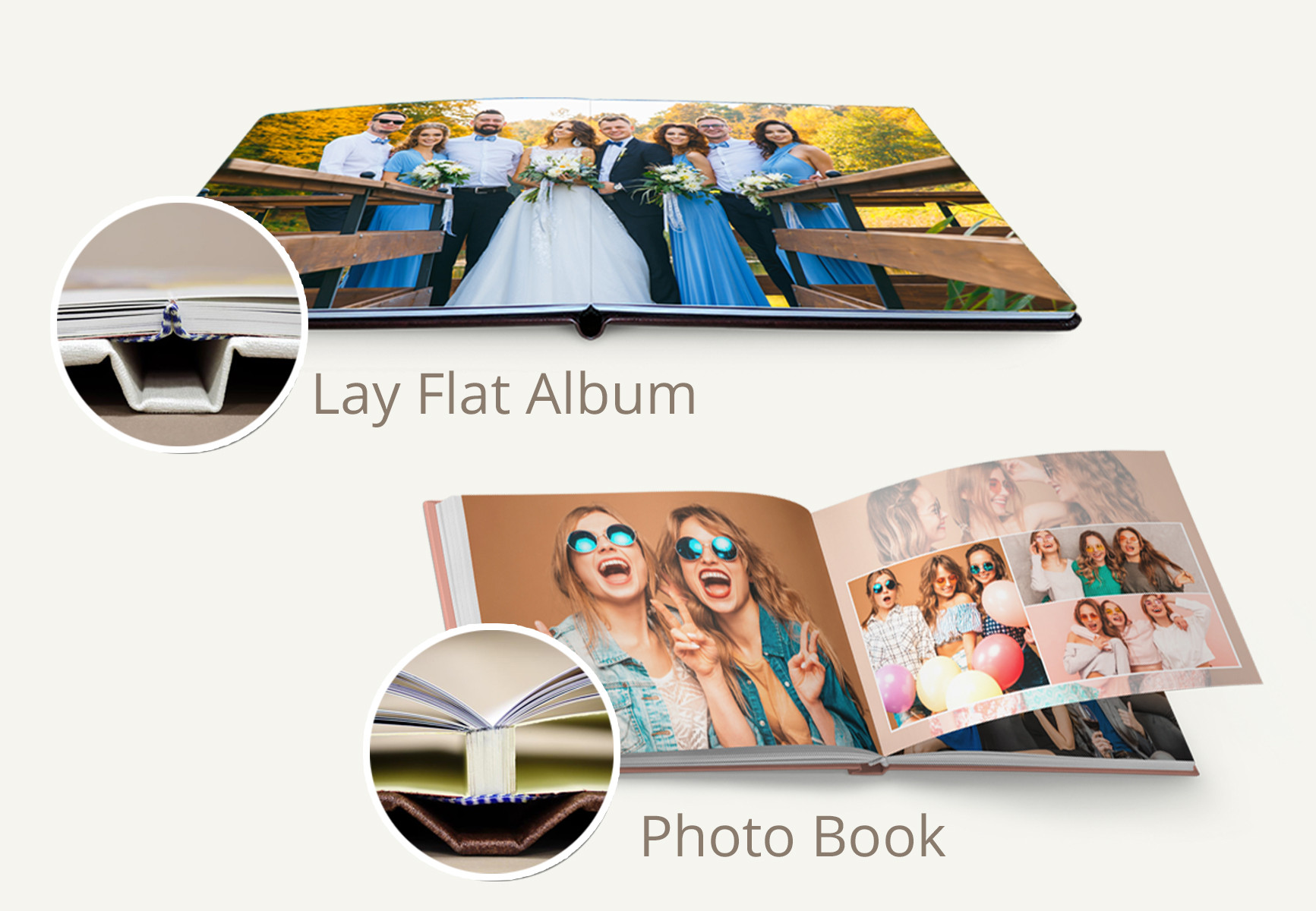 Differences between Photo Books, Lay Flat Albums and Express Books.